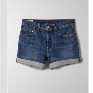 Levi's High-Waisted Denim Cropped Shorts